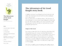 The Adventures of Sir Good Knight