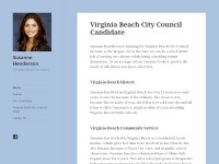 Vote Susanne Henderson - Designed Christian Website